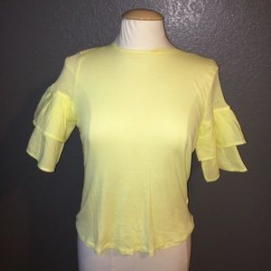 H& M Yellow Top Size XS